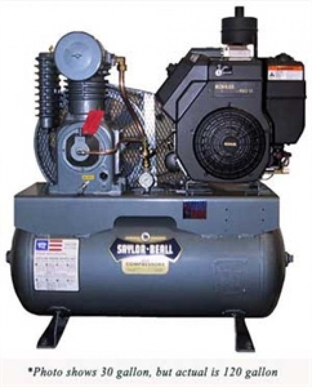452512gc air compressor gasoline engine driven buckeye for Motor driven air compressor